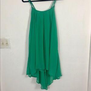 Absolutely & Faith Strappy Green Flowy Dress XL
